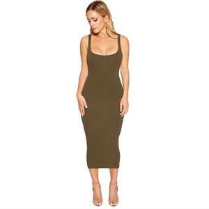 Naked Wardrobe Tank Dress Olive Green Size Small